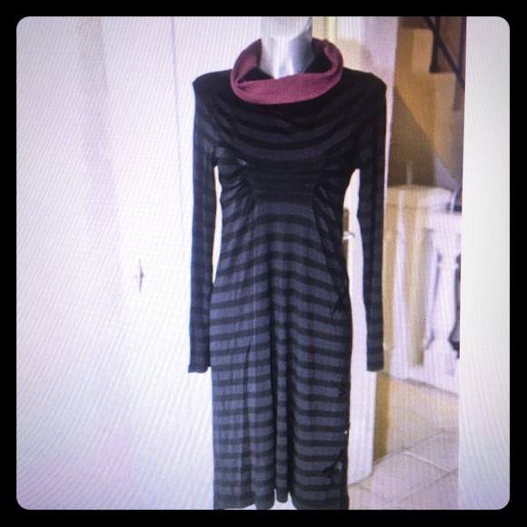 ef3a685edc5 Cop Copine Dresses   Skirts - Cop Copine unusual black stripe dress